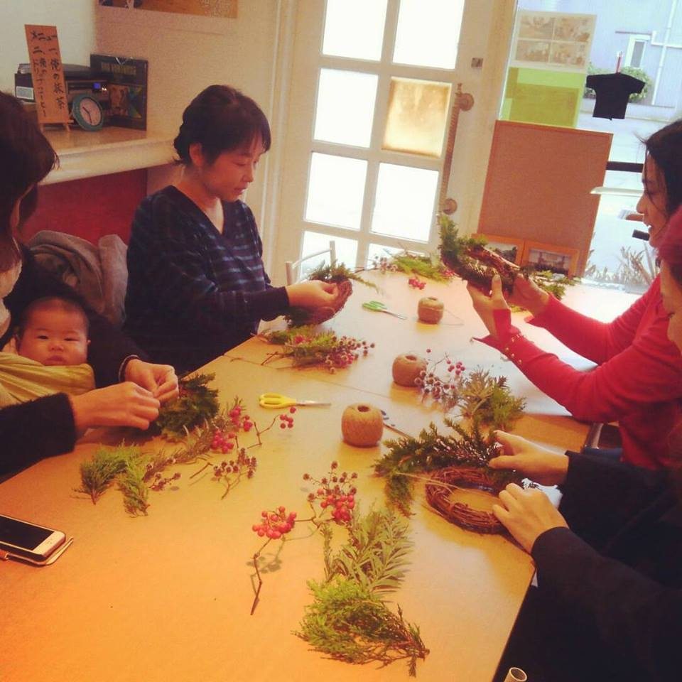ワークショップ風景 4646農園は富山市粟島のフラワーショップお花屋さんです