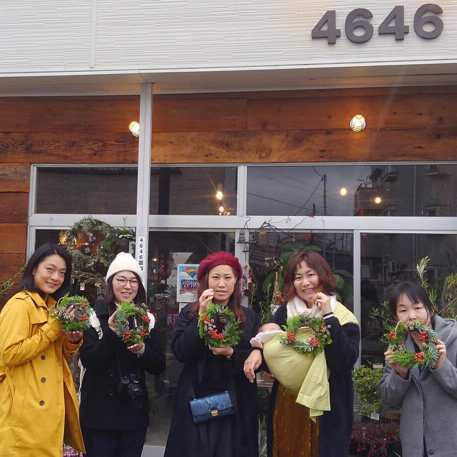 ワークショップ参加メンバー 4646農園は富山市粟島のフラワーショップお花屋さんです