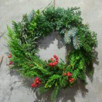 クリスマスリース 4646農園は富山市粟島のフラワーショップお花屋さんです